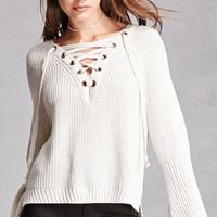 Haute Rogue Lace-Up Sweater
