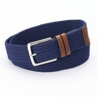 Dockers Braided Stretch Navy Belt