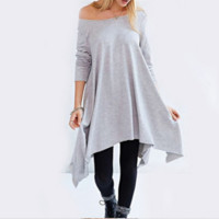 Long Sleeve A Line Swing Dress