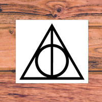 Harry Potter And The Deathly Hallows Decal | Harry Potter Trilogy Decal | Harry Potter Decal | Pothead Decal | Preppy Decal | Country | 344