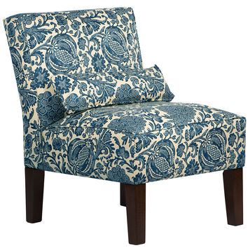 Bergman Armless Cotton Chair, Ink, Accent & Occasional Chairs