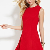 Mattelasse Fit & Flare Dress