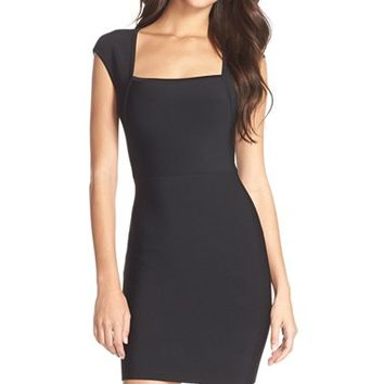 Women's BCBGMAXAZRIA Square Neck Stretch Body-Con Dress,