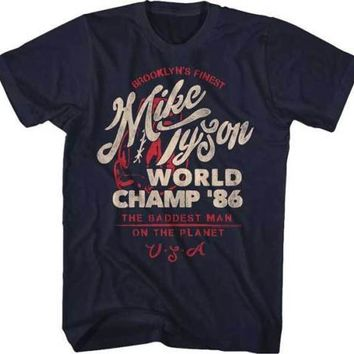 Mens Mike Tyson World Champ 86 Retro T-Shirt