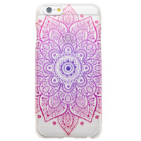 Clear Ombre Mandala Tribal Boho Bohemian iPhone 6 Plus Case