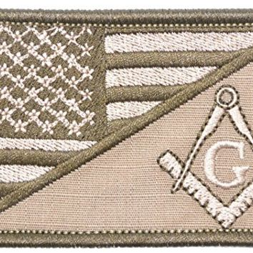 Patch Masonic Morale American Flag