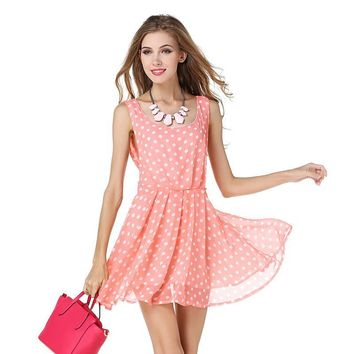Backless Spaghetti Strap Women's Fashion Star Pink Lovely Dress [9407056524]