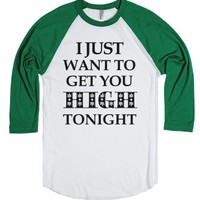 Get you High-Unisex White/Evergreen T-Shirt