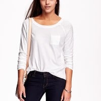 Old Navy Womens Relaxed Raglan Sleeve Tee