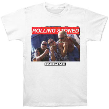 Sublime Men's  Stoned Photo Slim Fit T-shirt White
