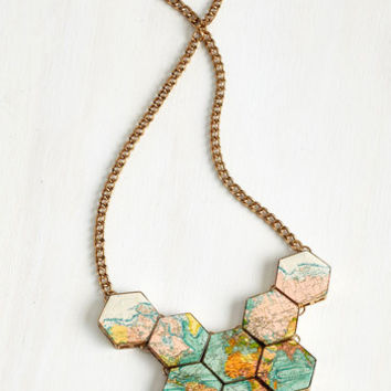 Boho No Place Like Roam Necklace by ModCloth