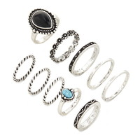 Faux Stone Midi Ring Set | Forever 21 - 1000170365