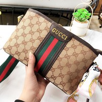 GUCCI New fashion leather shoulder bag women crossbody bag
