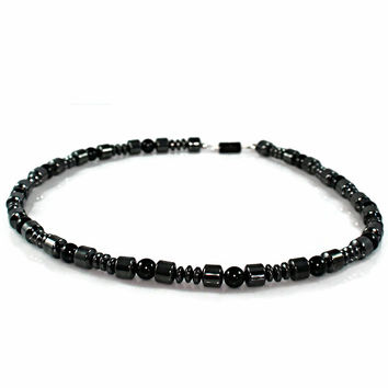 Men's Black Magnetic Hematite Necklace
