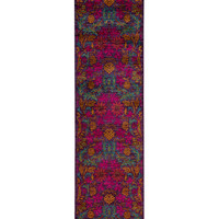 Solo Rugs Arts Oriental Hand-Knotted Runner - Purple