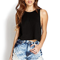 FOREVER 21 Bleached Denim Shorts Denim Washed Small