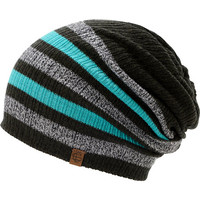 Empyre Girls Zodiac Black, Teal, & Charcoal Stripe Beanie at Zumiez : PDP