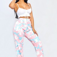 Cotton Candy Camo Sweatpants