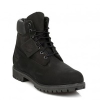 TIMBERLAND MENS BLACK CLASSIC 6 INCH LEATHER BOOTS