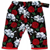 "Kid's ""Skull Rose"" Pants by Conscious Children's Clothes"