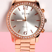 Time to Shine Rose Gold Boyfriend Watch