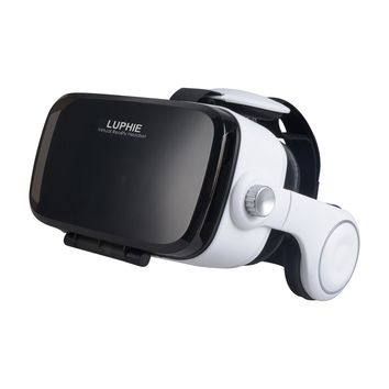 LUPHIE VR Headset, 3D Virtual Reality Glasses with Stereo Headphones and Adjustable Strap for iPhone & Android Smartphones within 4.7-6.2 inches