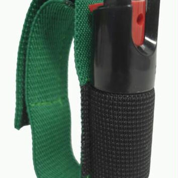 Pepper Spray With Green Strap - Guaranteed Fresh, Will Last 24 Months
