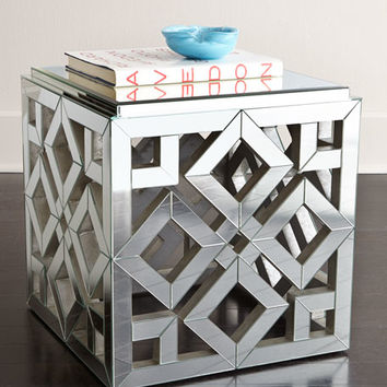 Regina Andrew Design Diamond Mirrored Side Table
