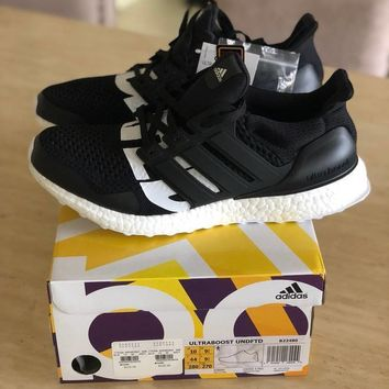 ADIDAS X UNDEFEATED ULTRA BOOST ULTRABOOST BLACK B22480 UNDFTD Sz 8-10.5