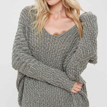 Carrie Popcorn Textured Sweater - Olive