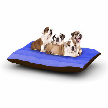 "Kess Original ""Ombre Berry"" Blue Digital Dog Bed"