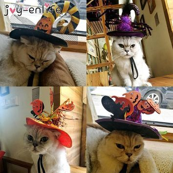 JOY-ENLIFE Halloween Party Pet Hat Pumpkin Spider Witch Hat Pet Caps Animal Pet Costume Halloween Decoration Pet Cosplay Cap