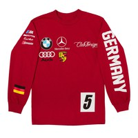 Club Foreign Long Sleeve T Shirt German Series - Cherry Red