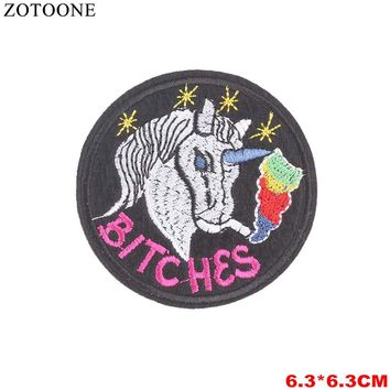 ZOTOONE Space Stickers Skll Stripes Patch Army Badges For Clothes Letters Woman Car Iron On Patches Clothing Applique Embroidery