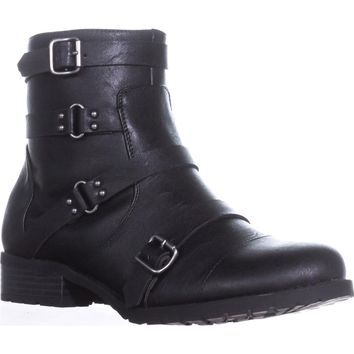 G by Guess Handsom Combat Boots, Black, 8.5 US