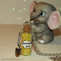 Winnie the Pooh  Magical Heffalump Bait Necklace with a Shovel Charm  Piglet Disney Magic by Life is the Bubbles