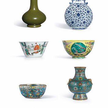 Asian Art Chinese Pottery - Bowls And Vases