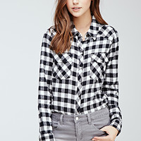 Flannel Gingham Western Shirt