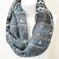 Tribal Print Infinity Scarf - Piace Boutique