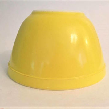 Yellow Pyrex 401 Mixing Bowl, Vintage Pyrex Glass Mixing Bowl, Pyrex Primary Colors