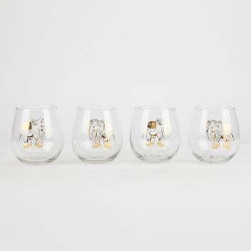 Mandala Elephant Stemless Glasses Set