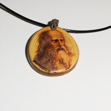 Plato pendant necklace - natural wooden slice disc - necklace pendant jewelry - excellent natural pendant - homemade handwork fashion NOW
