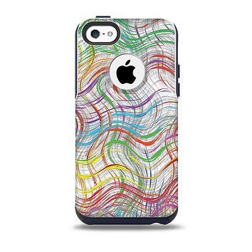 The Abstract Woven Color Pattern Skin for the iPhone 5c OtterBox Commuter Case