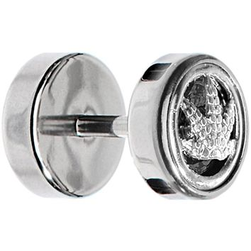 Stainless Steel Pot Leaf Cheater Plug