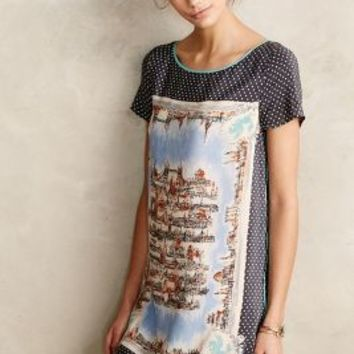 Around Town Silk Tee Dress by Maeve Dark Grey