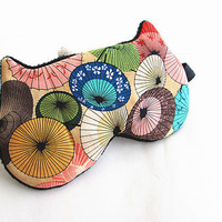Eye mask, Sleep mask, eye sleep mask, Kitty eye mask, Cat eye mask, Kitty sleep mask-Umbrella