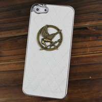 Hunger Games Mockingjay White Hard Case Cover For Apple iPhone5 Case, iPhone 5 Cover,iPhone 5 Case, iPhone 5g