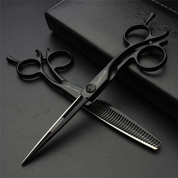 Top hair products SHARONDS 6 inches two color professional hair scissors barber equipment stylist's first choice free delivery