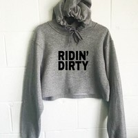 Ridin' Dirty Cropped Hoodie