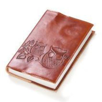 Owl on Twig Handmade Leather Journal